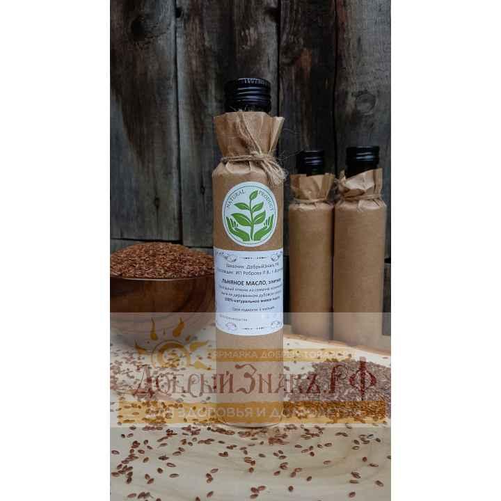 Масло льняное, деревянный пресс