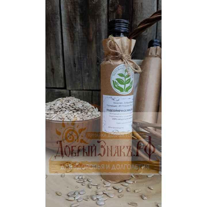 Сыродавленное подсолнечное масло, деревянный пресс