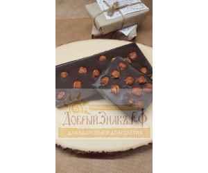 Натуральный шоколад на меду с фундуком, на вес